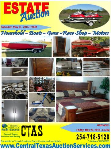 estate auction flyer