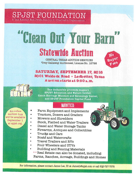 Clean out Your Barn Statewide Auction