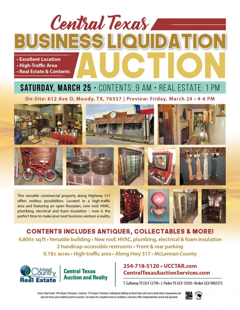 2017, March 25th - Contents & Real Estate Auction - Central