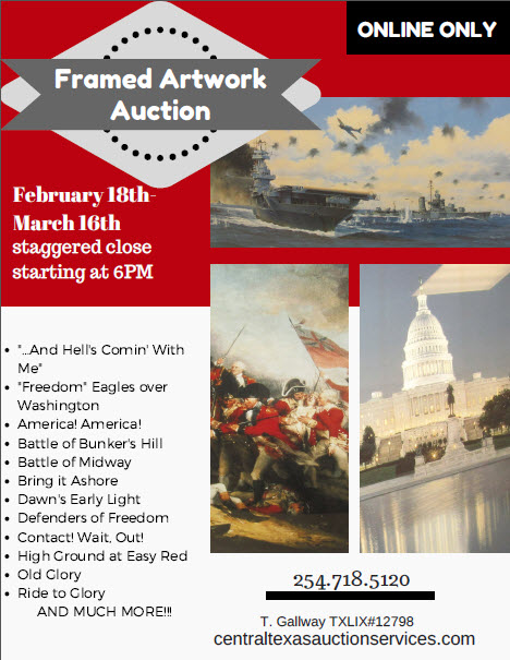 artwork auction flyer